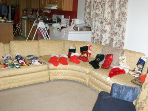 Christmas Stockings All Lined Up